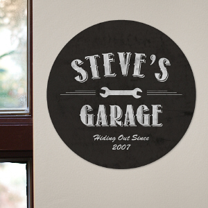 My Garage Round Wall Sign