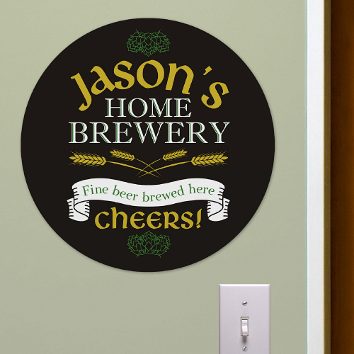 Brewery Round Wall Sign | Personalized Bar Signs