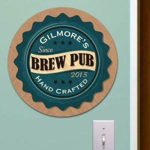 Personalized Brew Pub Wall Sign