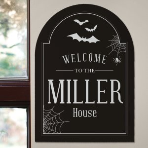 Halloween Personalized Wall Sign