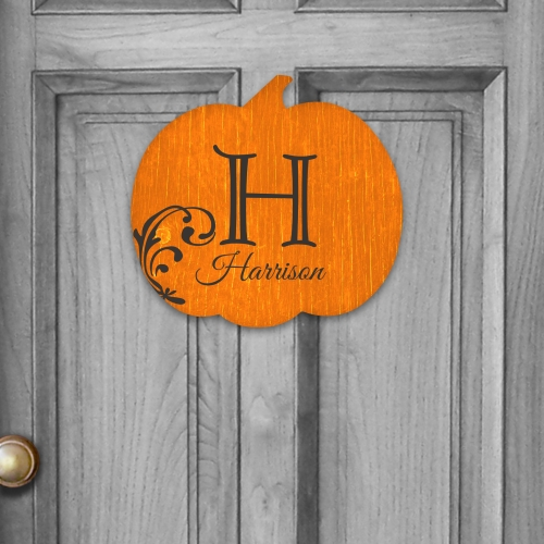 Personalized Family Pumpkin Wall Sign U795082