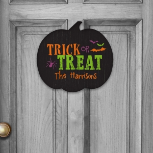 Personalized Trick or Treat Pumpkin Sign