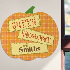 Personalized Halloween Pumpkin Sign