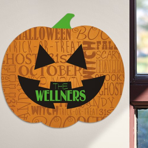 Halloween Pumpkin Sign | Personalized Decor For Halloween