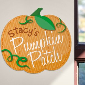 Personalized Pumpkin Patch Wall Sign