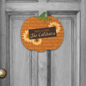 Fall Welcome Pumpkin Sign U801482