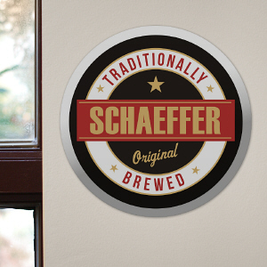 Personalized Beer Wall Sign