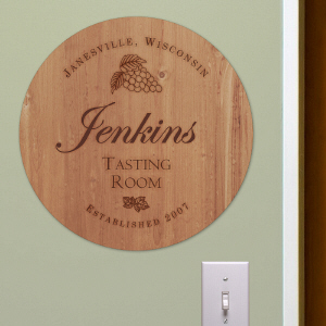 Personalized Wine Room Wall Sign