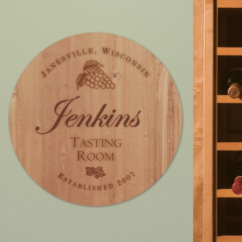 Personalized Wine Room Wall Sign | Personalized Housewarming Gifts