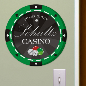 Personalized Poker Wall Sign U804579