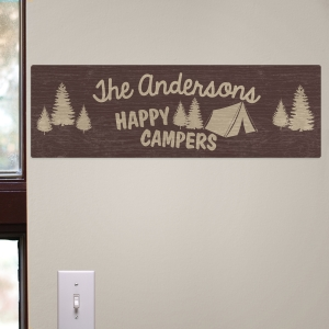 Family Camping Wall Sign U816281