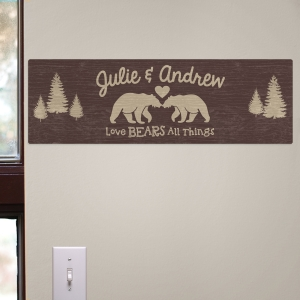 Personalized Couples Rustic Wall Sign