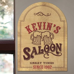 Personalized Saloon Wall Sign