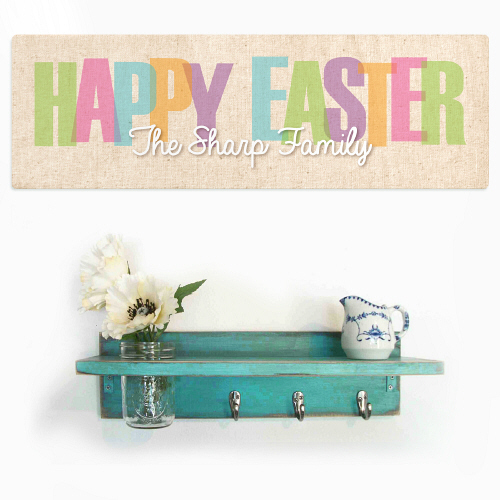 Easter Welcome Wall Sign | Easter Personalized Welcome Signs