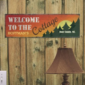Personalized Cottage Wall Sign