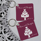 Personalized Wedding Cake Key Chain 359680