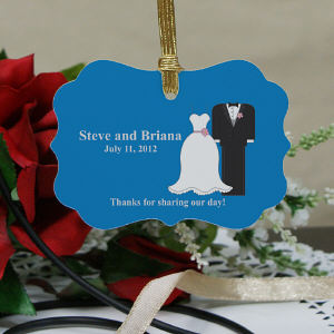 Personalized Bride And Groom Wedding Favor Ornament U563930