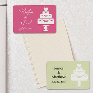 Personalized Wedding Cake Magnet Wedding Favor