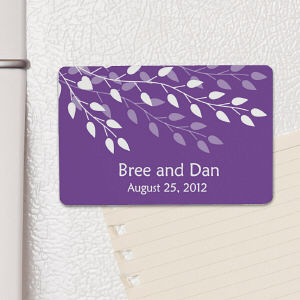 Personalized Leaves Of Love Wedding Favor Magnet