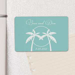Personalized Tropical Wedding Favor Magnet