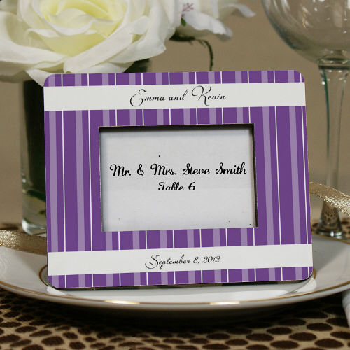 Personalized Striped Wedding Favor Place Holder U564031
