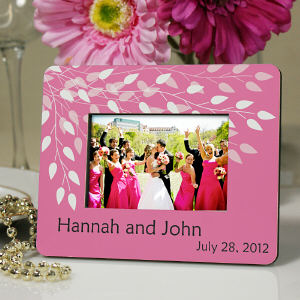 Personalized Leaves Of Love Mini Frame Wedding Favor