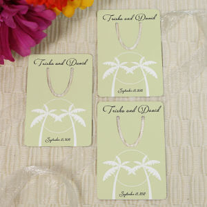 Personalized Tropical Wedding Favor Bookmark