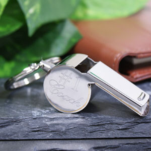 Engraved Stainless Steel Whistle