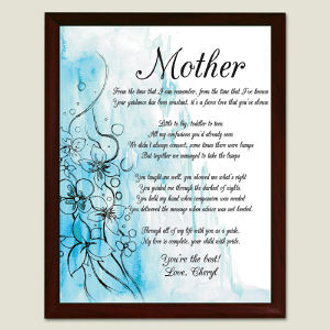 Personalized To My Mother Printed Plaque 459375