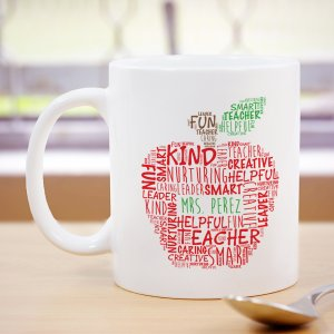 Teacher's Apple Mug | Personalized Teacher Gifts