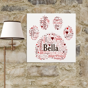 Paw Print Word-Art Canvas