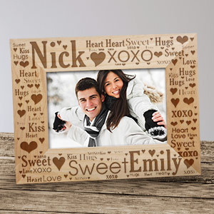 Couples Love Word-Art Picture Frame | Personalized Valentine Gifts For Him