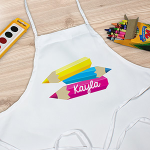 Personalized Pencils Youth Apron | Kids Apron