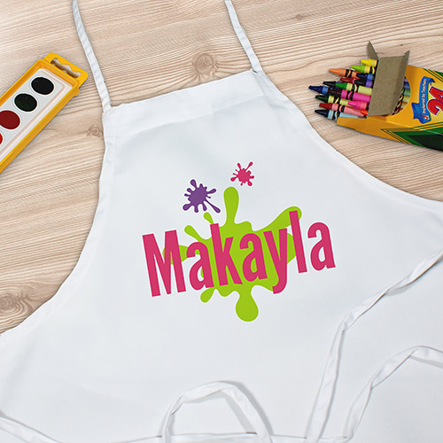 Personalized Paint Splatter Youth Apron | Personalized Kids Apron