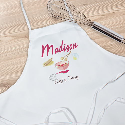 Personalized Chef In Training Kids Kitchen Apron | Personalized Aprons
