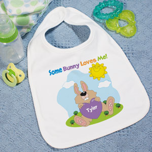 Some Bunny Loves Him Personalized Bib
