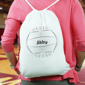 Printed Volleyball drawstring Sports Bag