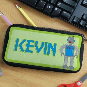 Personalized Robot Pencil Case
