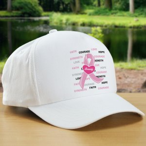 Hope and Love Personalized Breast Cancer Awareness Hat