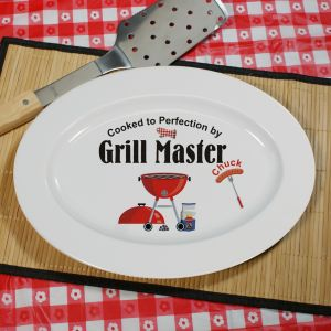 Grill Master Personalized Serving Platter U353617