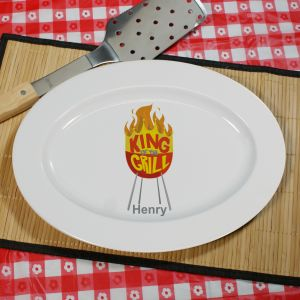 King Of The Grill Personalized Platter U590817