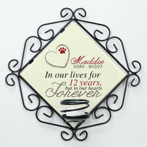 Personalized Pet Memorial Candle Holder U711365
