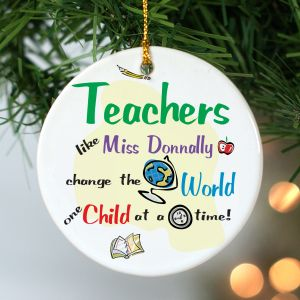 Personalized Teacher Ceramic Ornament