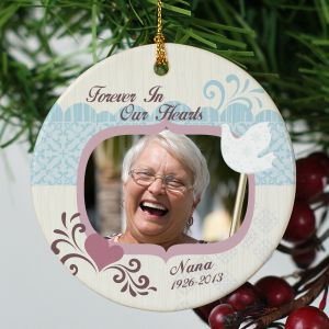 Ceramic Memorial Photo Ornament