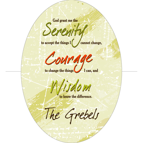 Serenity Prayer Personalized Keepsake Wall Cross