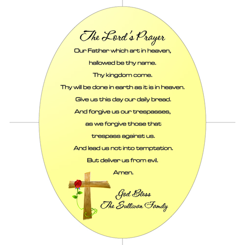 The Lord's Prayer Keepsake Wall Cross