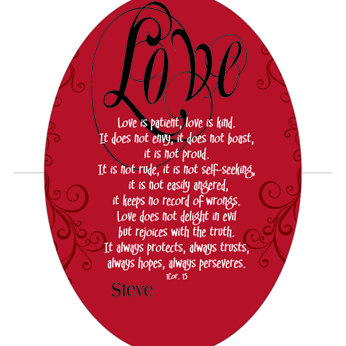 Love is Patient... Keepsake Wall Cross | Romantic Home
