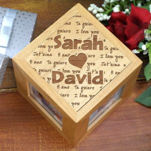 Engraved I Love You Photo Cube