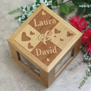 Engraved Couples Photo Cube