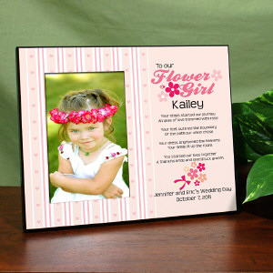 Flower Girl Personalized Printed Frame
